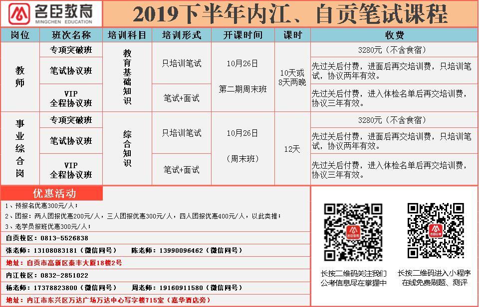 内江市人力资源和社会保障局  内江市教育局  关于2019年下半年内江市部分市本级学校  公开考聘教师的公告   (图1)